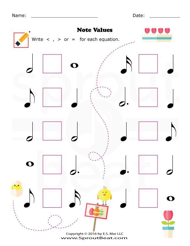 Music Worksheets Easter Note Value With Images Music Worksheets Music Theory Worksheets Learning Music Notes