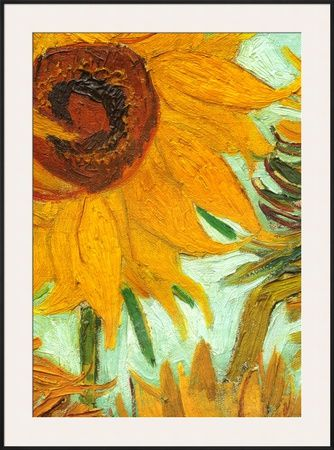 Twelve Sunflowers (detail) Art Print by Vincent van Gogh at Art.com