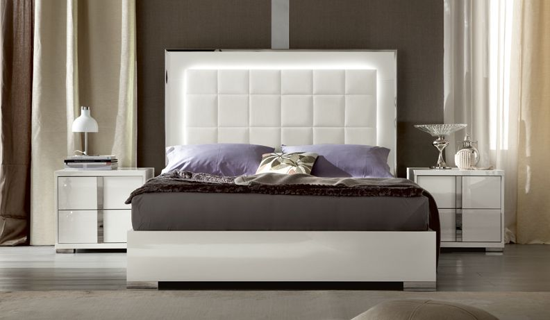 Contemporary White High Gloss Italian Bedroom Furniture