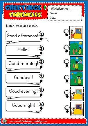 Greetings Worksheet Http Eslchallenge Weebly Com English Yes 1 Html Greetings Worksheet English Worksheets For Kids Greetings Worksheets Simple greetings worksheets for kindergarten