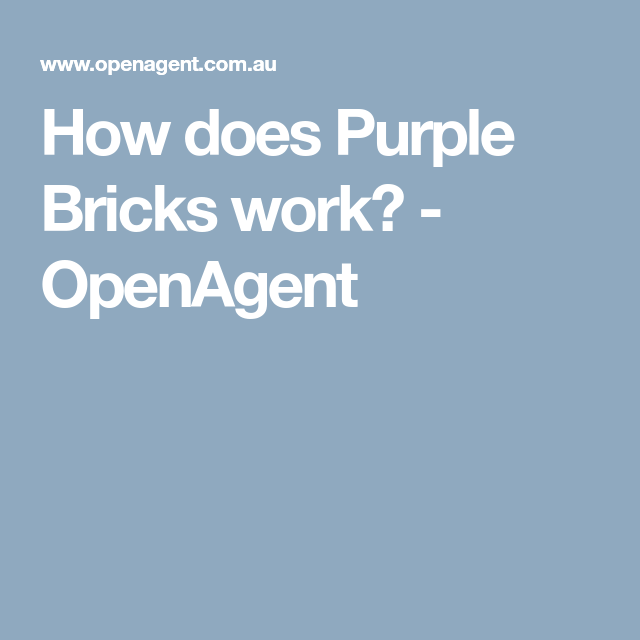 how does purple bricks work openagent resources for buyers