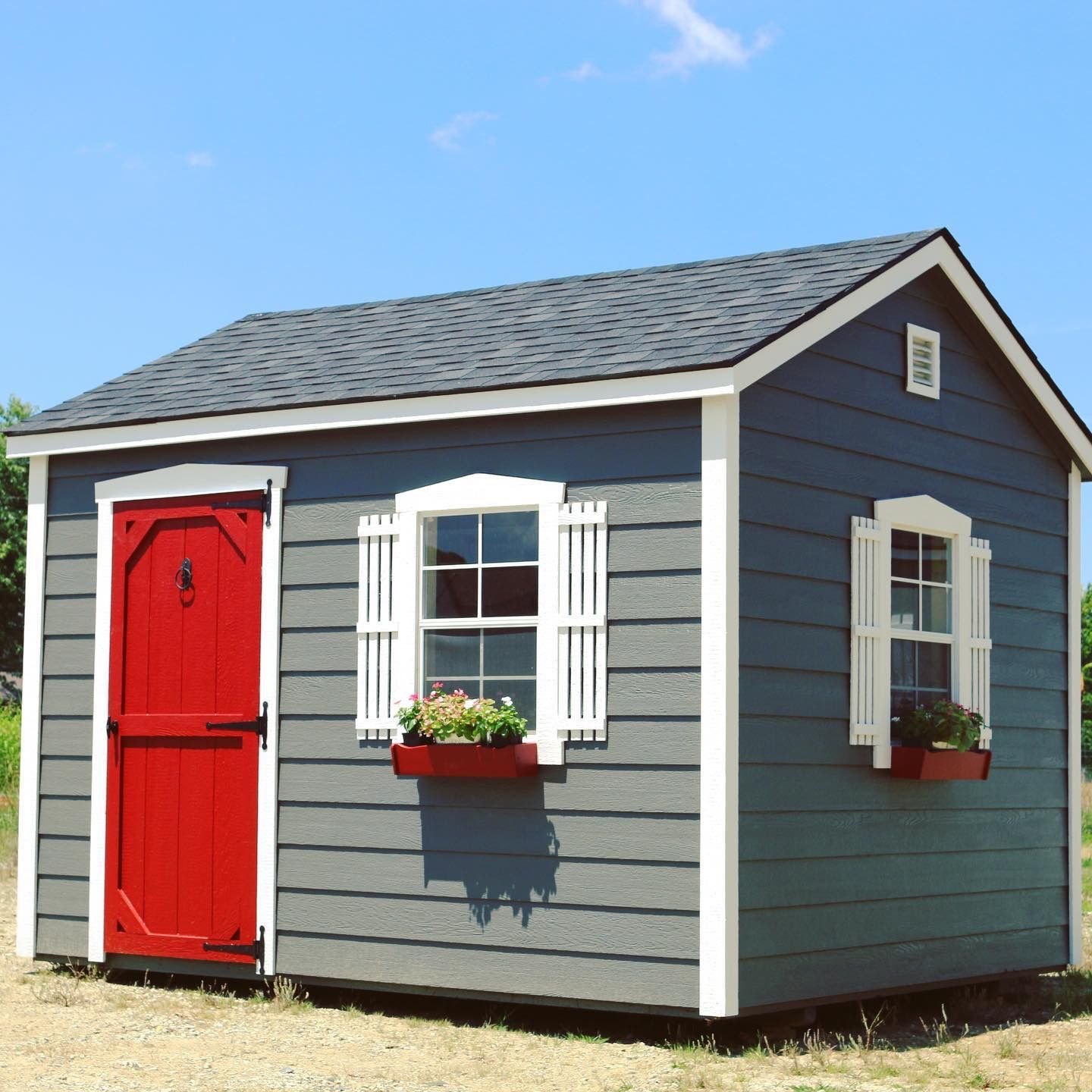 Sheds By Design Shed With Red Barn Door Red Barn Door Shed Painted Garden Sheds