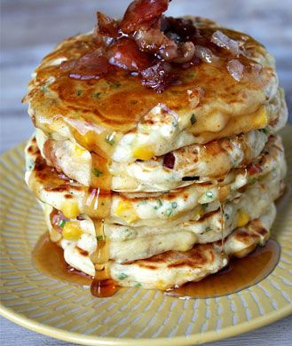 Bacon and Corn Griddle Pancakes