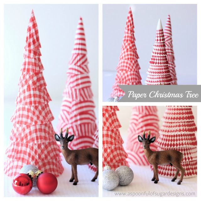DIY Cupcake Christmas Trees - Make use of spare cupcake wrappers in this neat craft! Apply wrappers to polystyrene cones using pins. Quick and impressive.