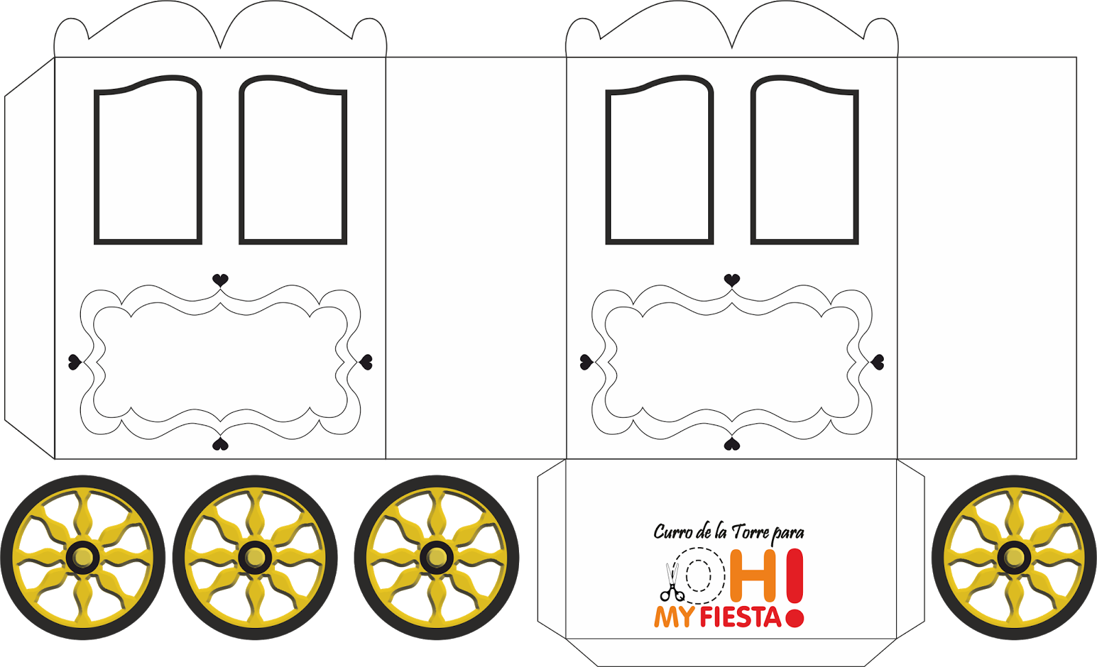 Princess Carriage Shaped Box Template Templates Pinterest