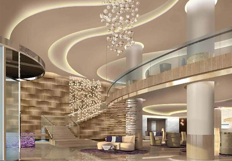Jw Marriott Absheron Hotel Baku House Ceiling Design Interior Design Living Room Modern Hotel Lobby