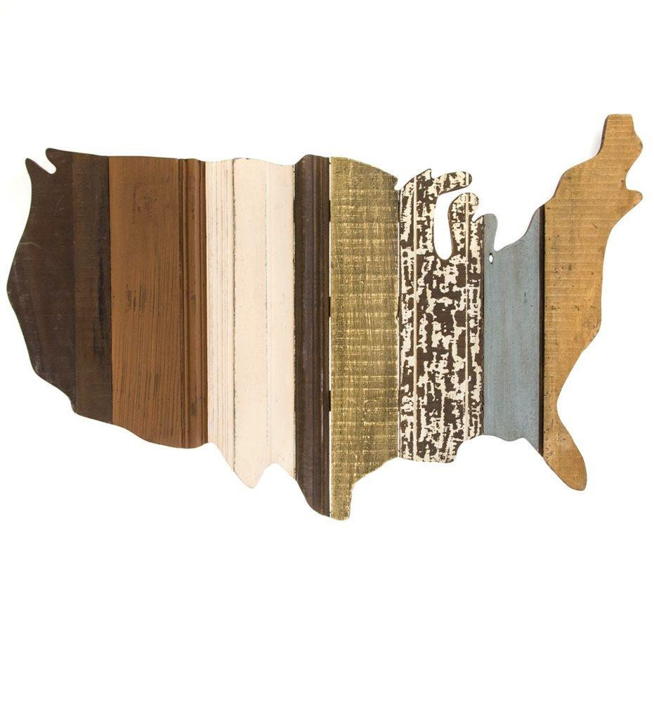 Wooden U.S. Map Wall Art | Home Furniture | Home Decor | Wall Decor    Cracker