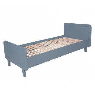 rundes bett 90x200 cm dunkelgrau laurette juniorbett. Black Bedroom Furniture Sets. Home Design Ideas