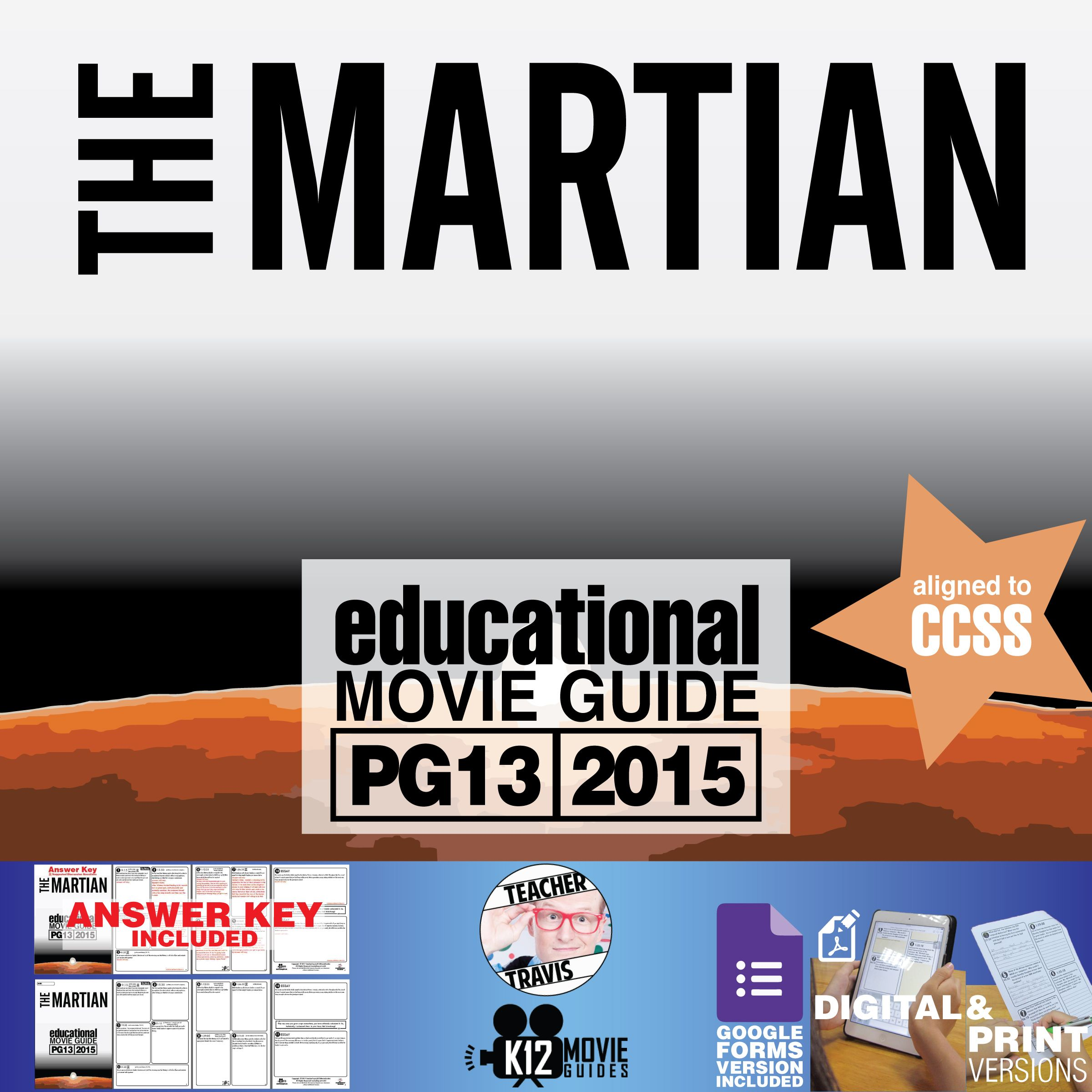 The Martian Movie Worksheet
