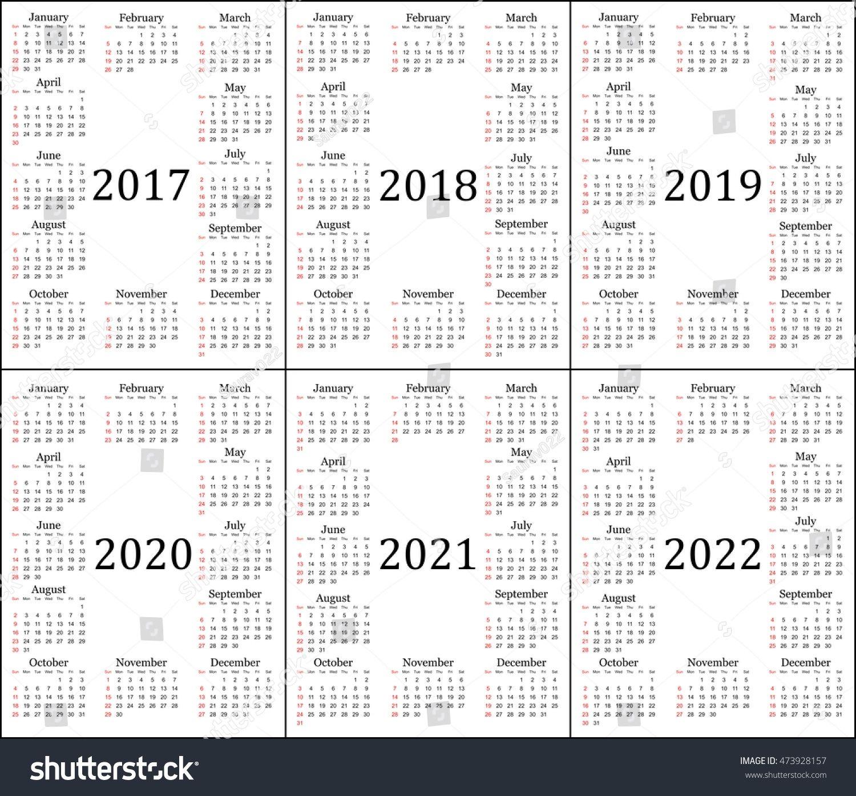 5 Year Calendar Planner in 2020 | Year calendar planner, 5 ...