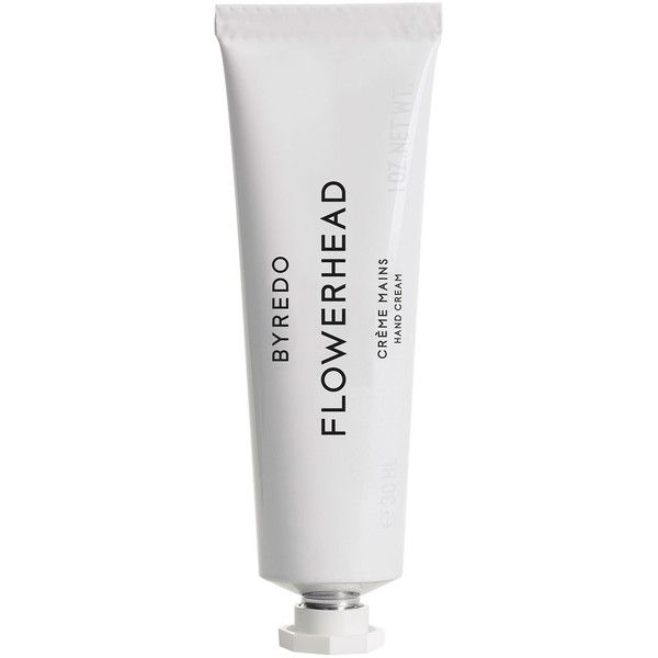 Byredo Hand Cream Flowerhead found on Polyvore featuring beauty products, bath & body products, body moisturizers and byredo