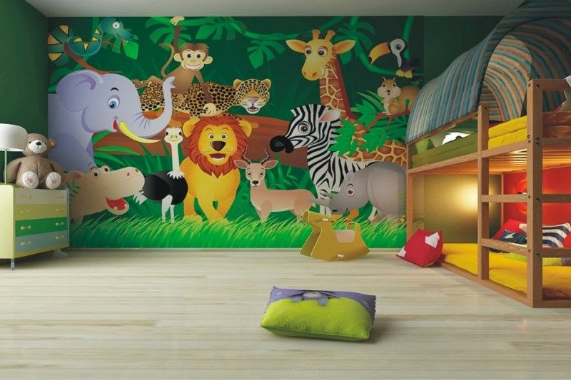 Fresque Murale Dans La Chambre D Enfant 35 Dessins Joviaux Inspirants