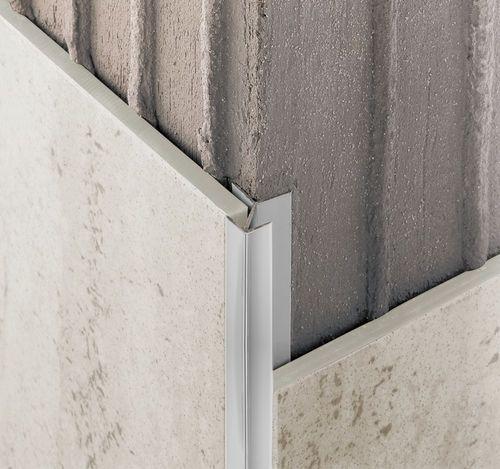 Aluminum edge trim / for tiles / outside corner NOVOCANTO