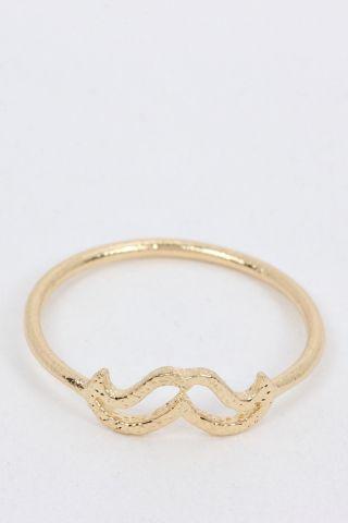 Cute Cutout Mustache Midi Ring | JOIA Accessories - Wholesale Fashion Jewelry