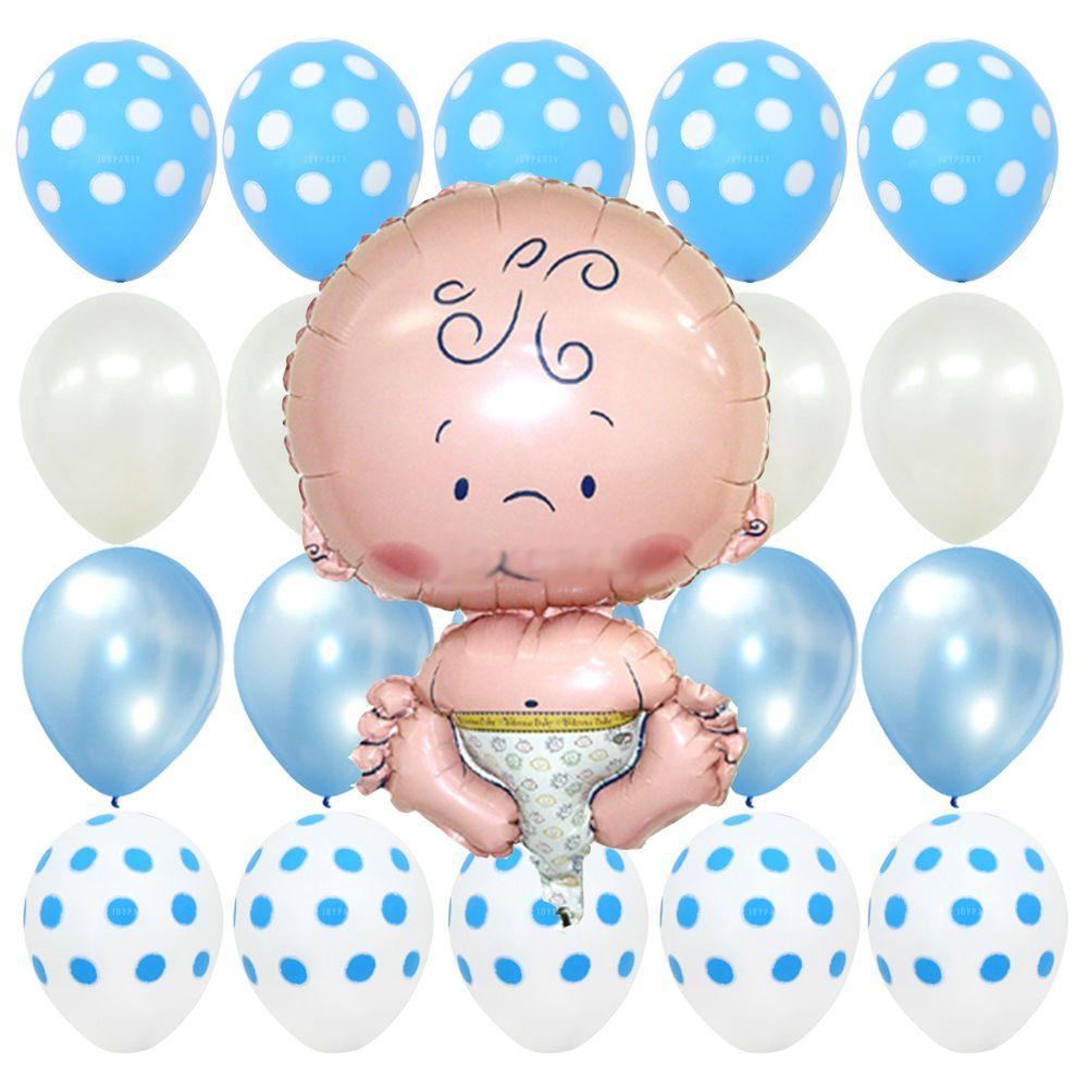 First Birthday party Blue Polka dot Baby Shower Christening