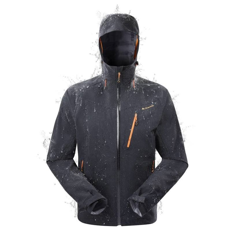 Herenjas Forclaz 400 Zwart Decathlon Waterproof Rain Jacket Waterproof Jacket Rain Jacket