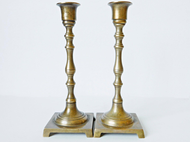 vintage brass candlesticks matching pair solid brass with vintage gold brass candlesticks gold candle holders matching pair brass candlestick holders brass decor hollywood regency lighting