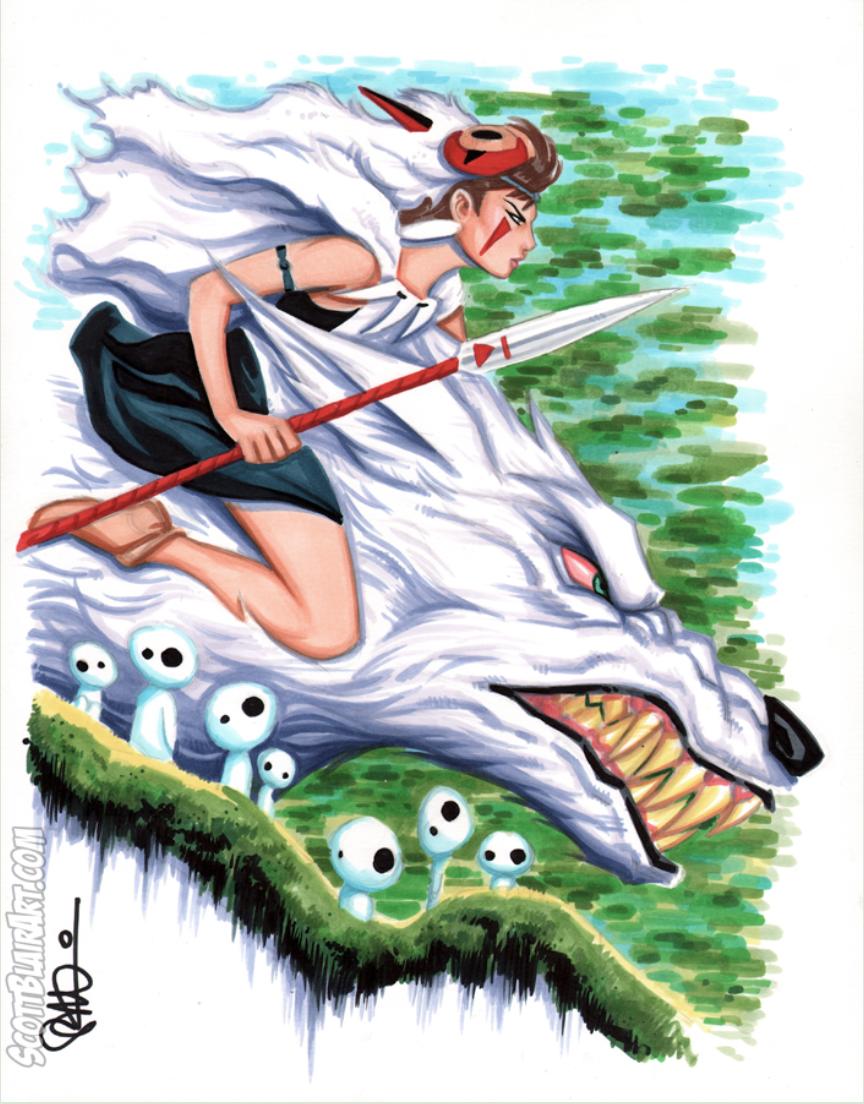 Princess Mononoke San The Wolf Princess Fan Art Princess