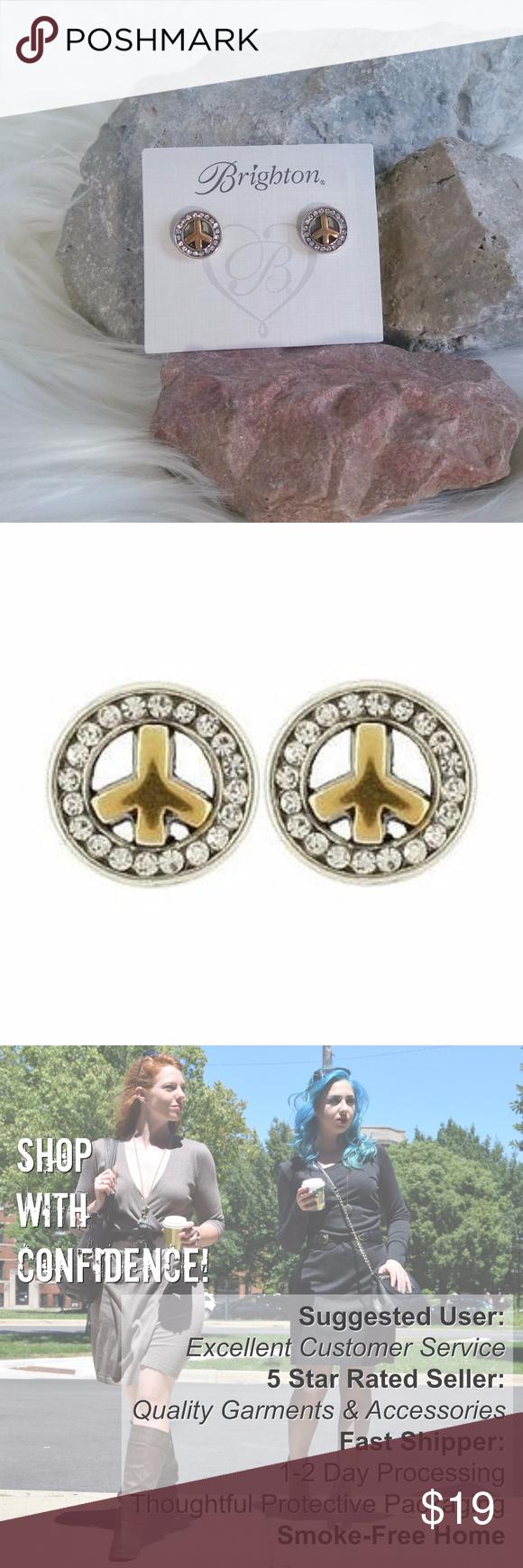 Download Brighton Peace Earring Studs/Mini Posts NWT | Peace ...
