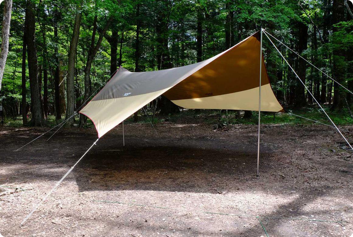 ひとりでも美しく張れる オープンタープの張り方 キャンプ道具のマメ知識 キャンプ道具 キャンプ アウトドア