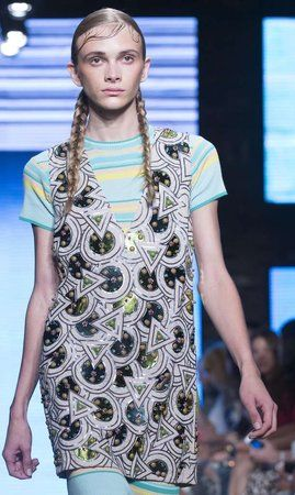 """""""Baby hair"""" on the DKNY runway last month was called """"slicked-down tendrils"""" by Lucky magazine."""
