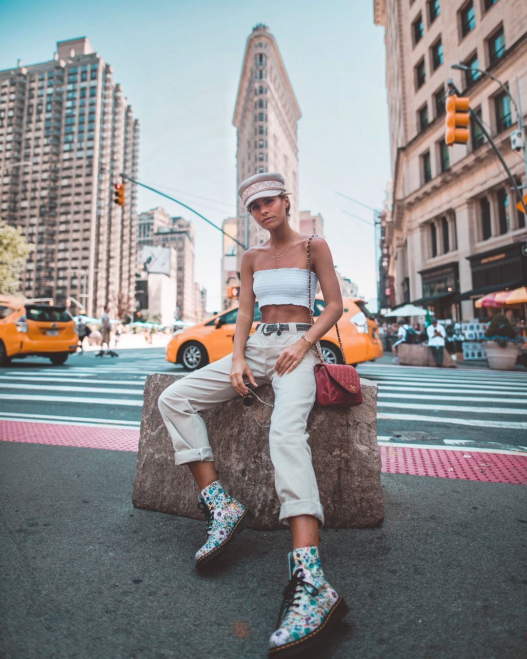 "DEBI FLÜGGE on Instagram: ""Touchdown in NYC! 🗽😍 #nyc #summer #outfit #travel #fashion"