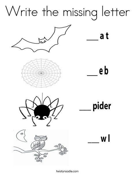 write the missing letter worksheet from halloween coloring pages worksheets. Black Bedroom Furniture Sets. Home Design Ideas