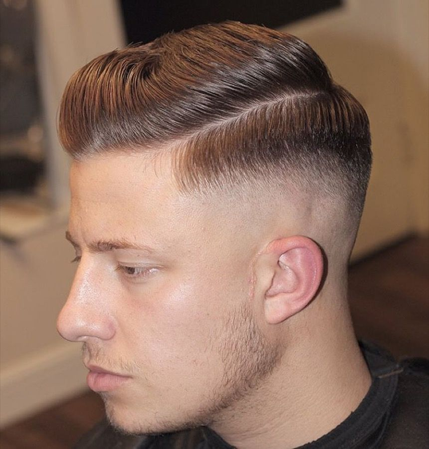 Image result for Professional Bald Fade Side Part.