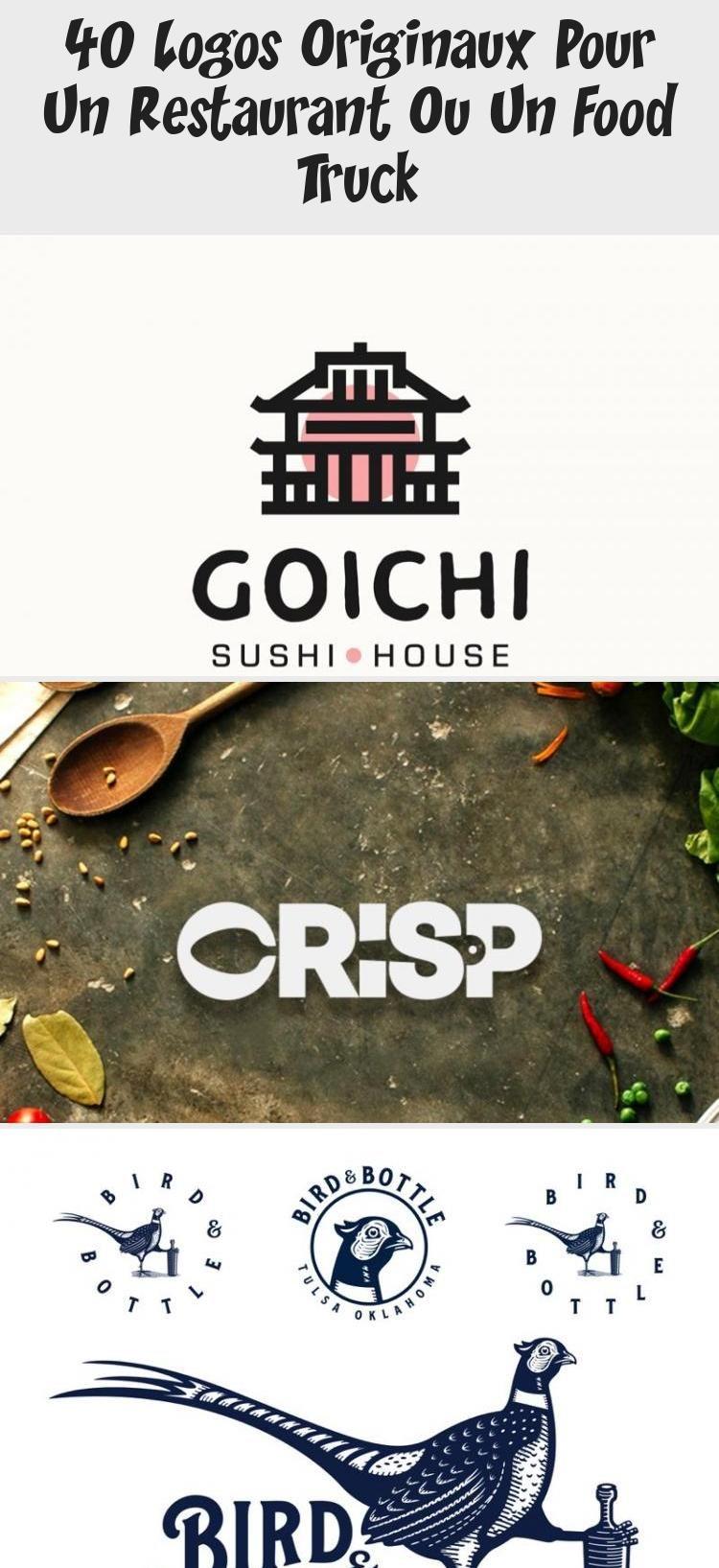 40 logos originaux pour un restaurant ou un Food Truck