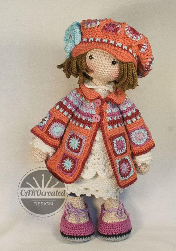 Crochet Pattern for Doll ZOEY, pdf (Deutsch, English, Français, Nederlands, Español)
