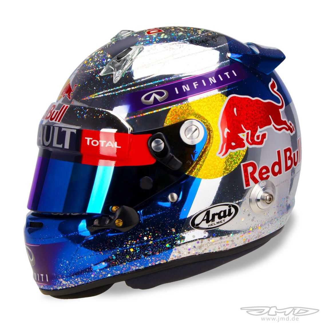 Vettel helmet design abu dhabi gp 2014 last one in red for Helm design