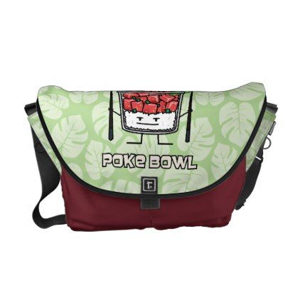 6851ad41647  fishing -  Poke bowl Hawaii raw fish salad chopsticks aku Messenger Bag