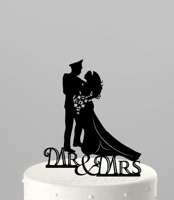 Wedding Cake Topper Silhouette Military Groom Amp By