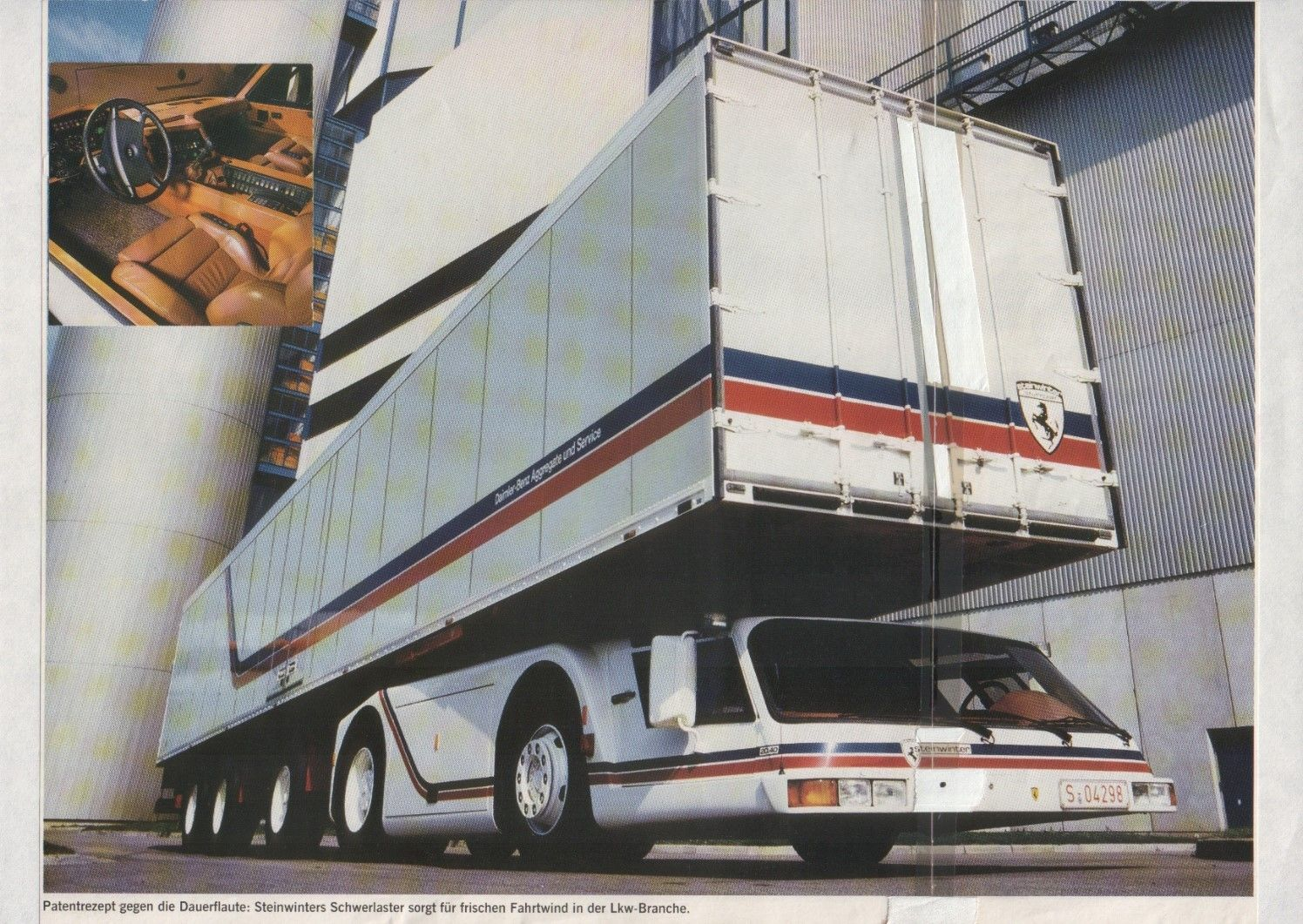 1983 Steinwinter Supercargo 2040 Cab Under Concept Vehicles Big Trucks Futuristic Cars