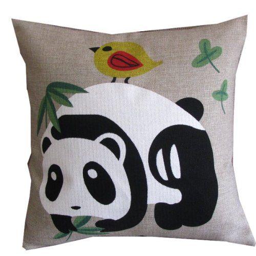 Cute Panda & Bird Throw Pillow Case Sham Decor Cushion Covers Square 18*18 Inch Cotton Blend Linen Leaveland,http://www.amazon.com/dp/B00DCJCANQ/ref=cm_sw_r_pi_dp_Eskotb0C4FV0FA0F