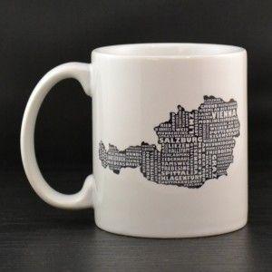 Austria Mug - MapMyState.com