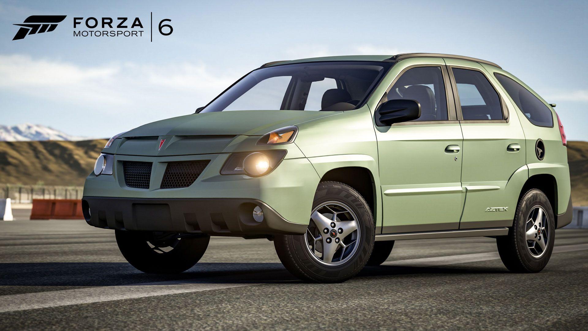 New forza 6 car pack includes a pontiac aztek the drive
