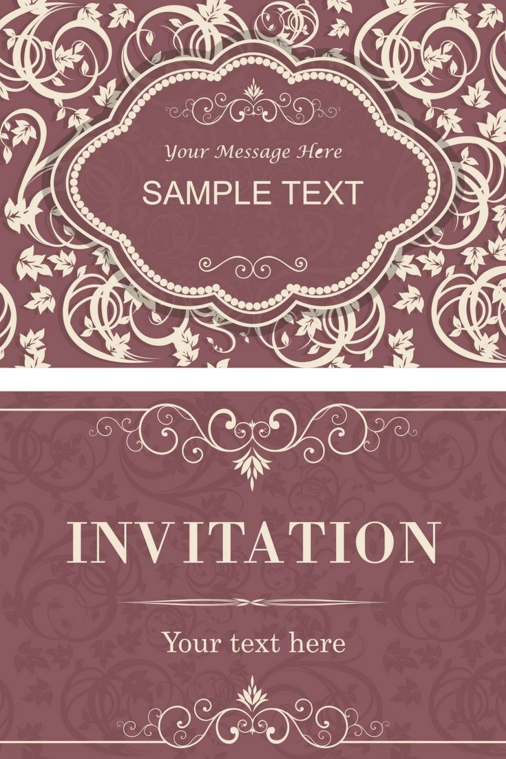 Free Wedding Invitation Cards Examples - Go Preparing For Your ...