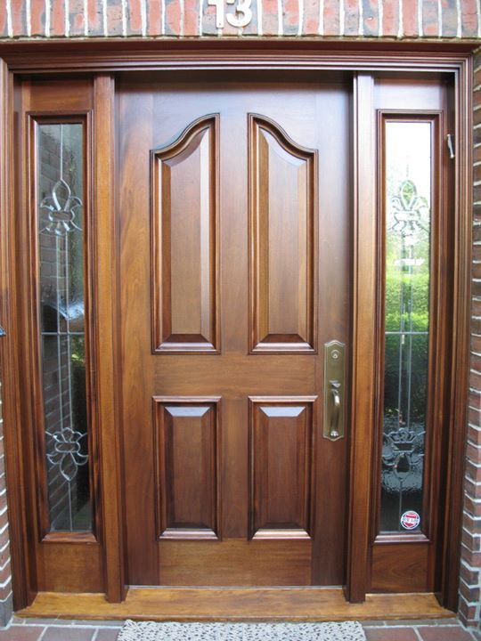 Mahogany Front Door With Dark Oak Stain Seal A Deck