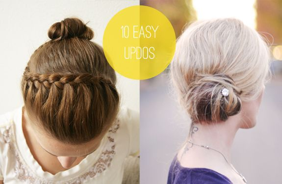 10 easy updos you can actually do with 2 hands up dos easy and 10 easy updos for long hair to do at home solutioingenieria Image collections