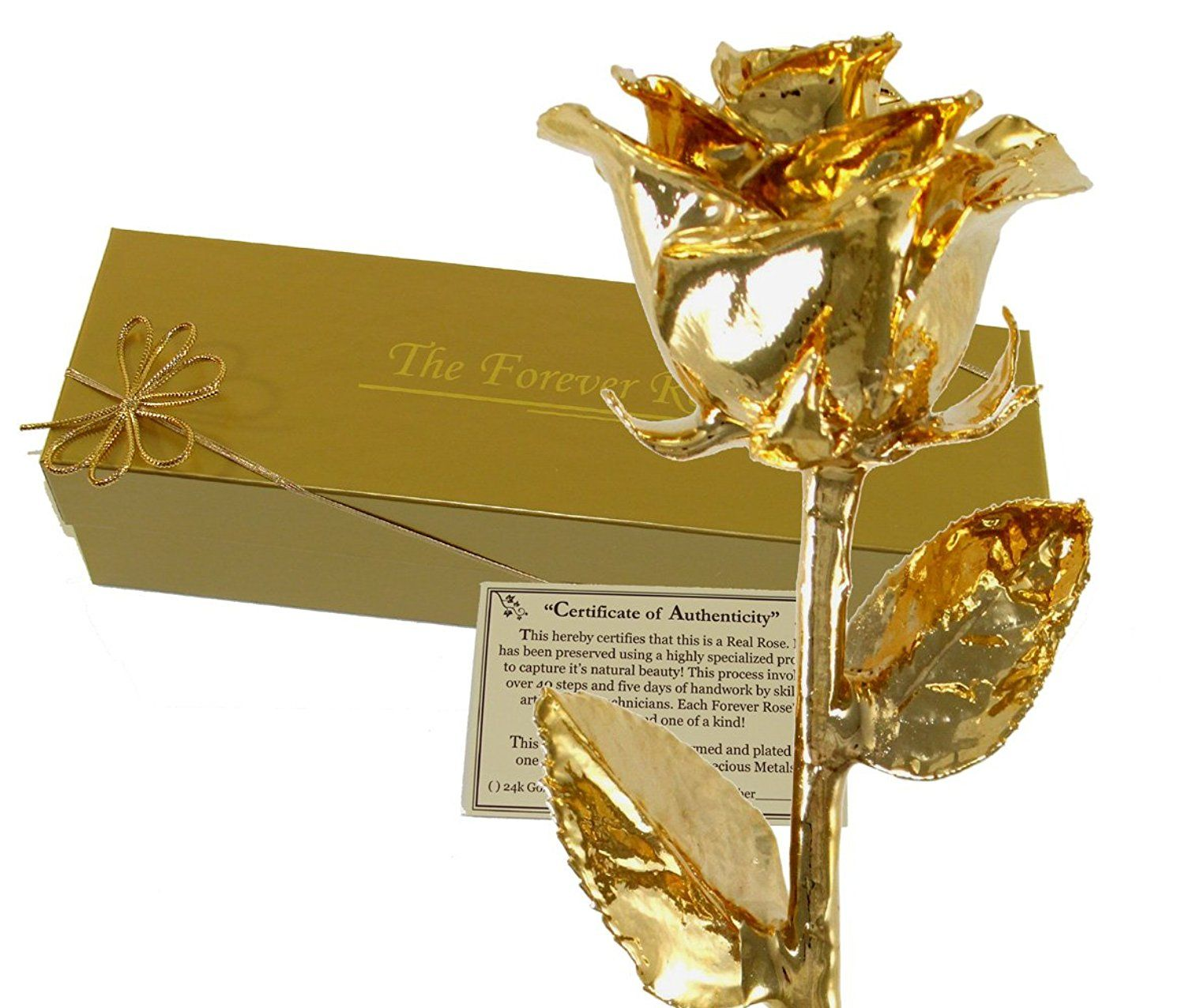 24K Gold Dipped Real Rose w/ Gold Gift Box! ** See this