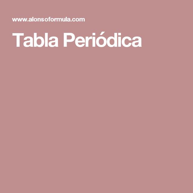 Tabla peridica qumica pinterest tabla y qumica tabla peridica urtaz Choice Image