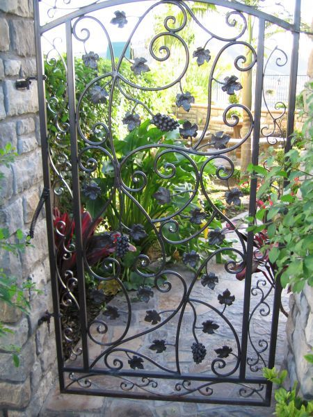 Reference 100 Garden Iron Gate Garden Black Texture Semi