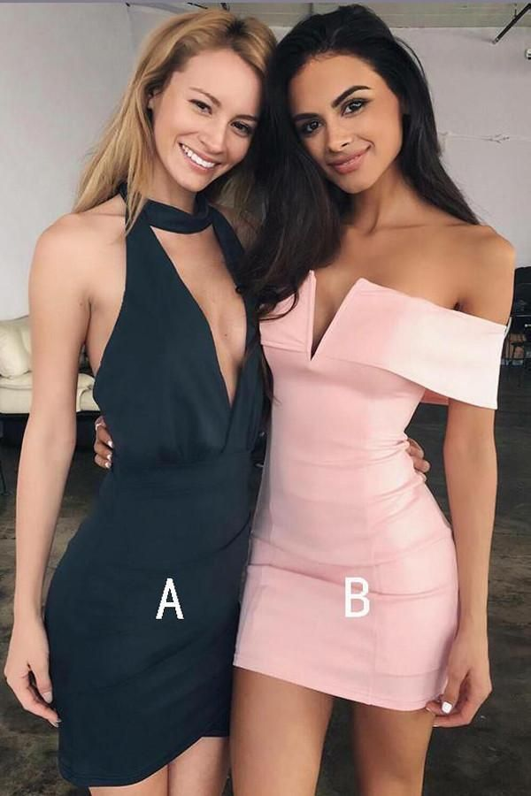 Sexy Tight Short Prom Dress,Simple V Neck Homecoming Dress Party ...