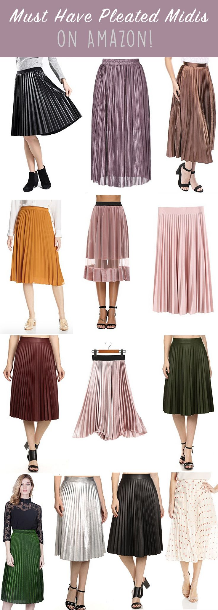 Pleated Midi Skirt Round Up On Amazon Style Chic