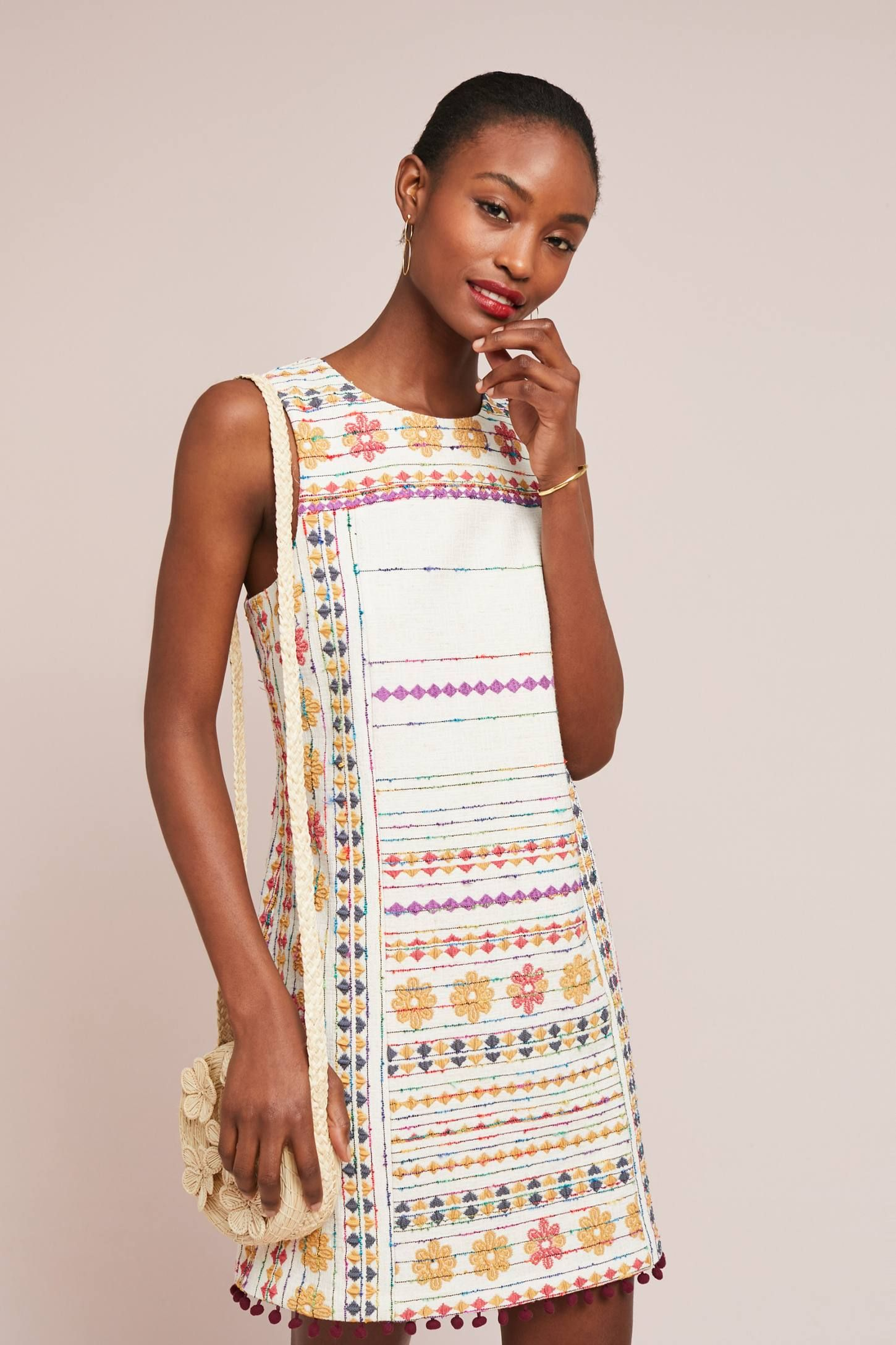 9f61c7f00d6 Prudence Embroidered Shift Dress in 2018