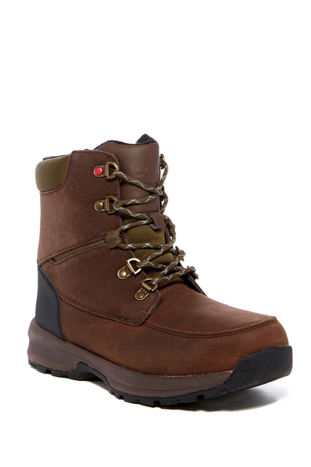 UGG Graupel Leather Waterproof Rain Boot Boots, Mens