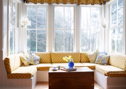 Living Room Curtains For Square Bay Window Bay Window Living Room Home Bay Window Seat