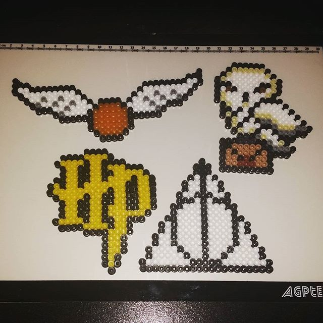 Harry Potter Pieces Perler Beads By Trixiebeard Harry