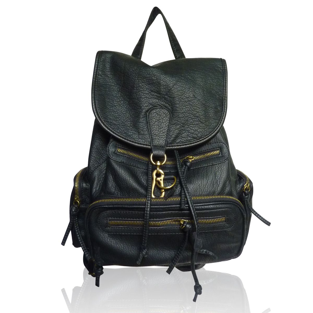 The Lincoln Rucksack by Anna Smith in Black - LYDC